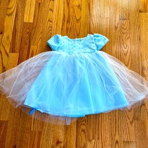 Baby Blue Princess Dress with Tulle